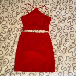 Leith Red Two Piece